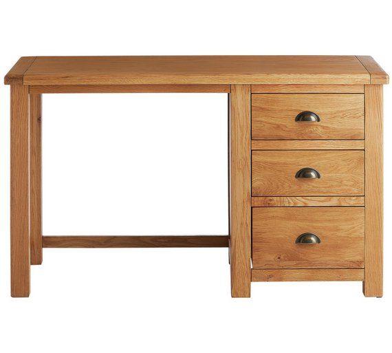 Buy Argos Home Kent 3 Drawer Office Desk Oak Oak Veneer
