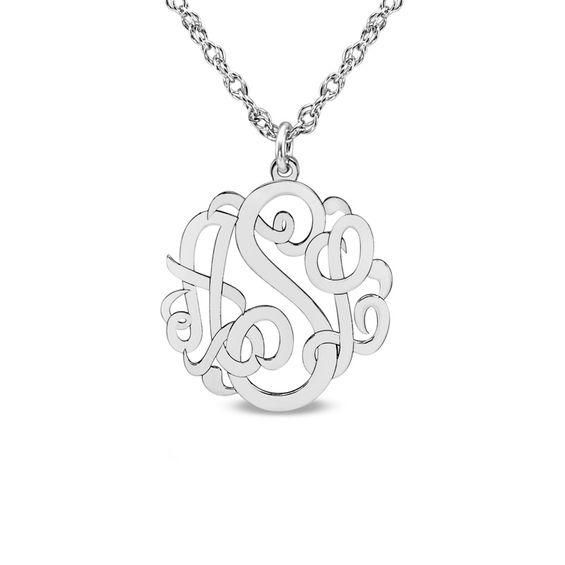 Zales Lower Case Initial Pendant in Sterling Silver (1 Letter) jIL5RxcYpN