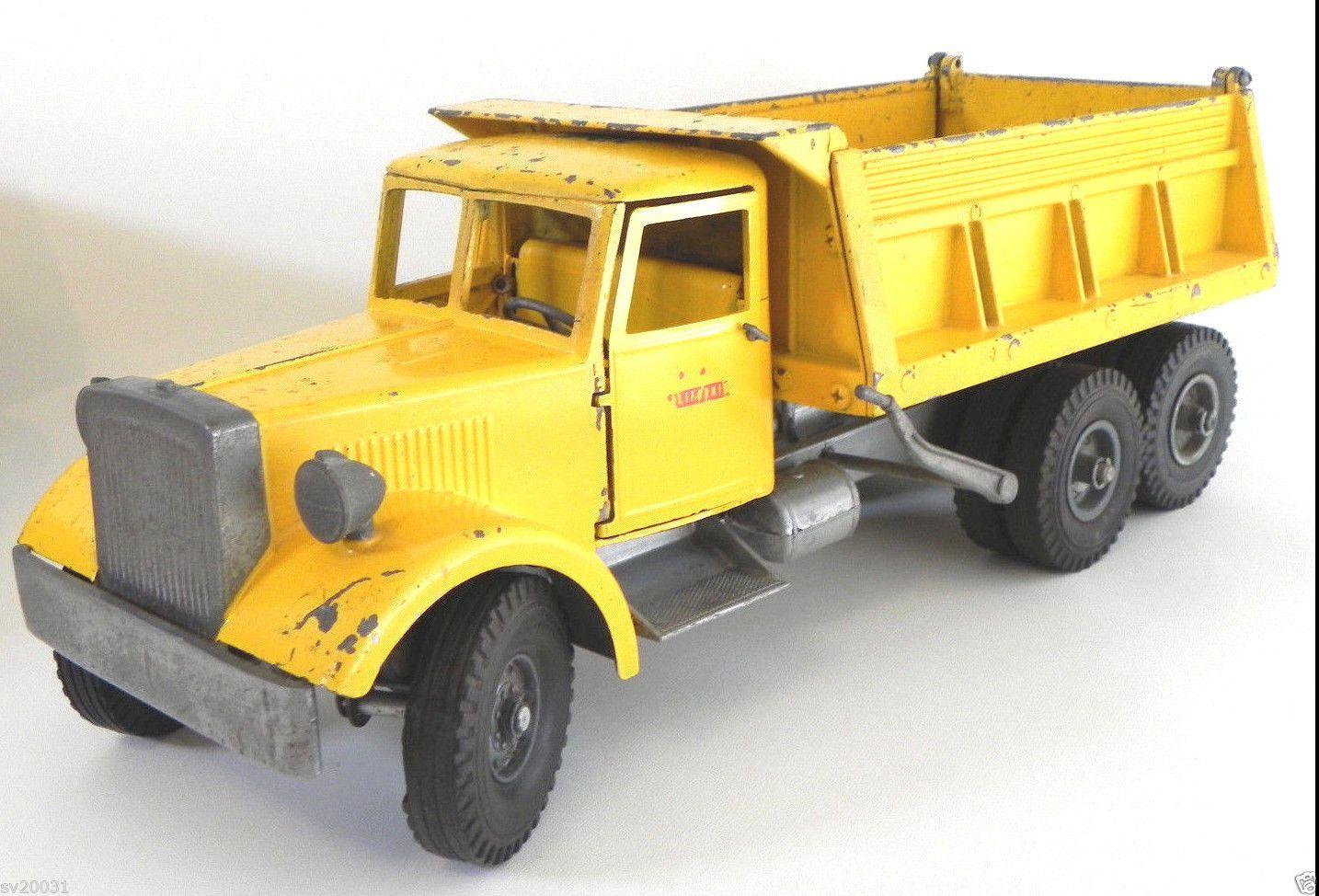 Vintage Toy Trucks Part - 44: Vintage 1950u0027s Mic Smith Miller Pressed Steel Yellow Hydraulic Dump Truck |  EBay