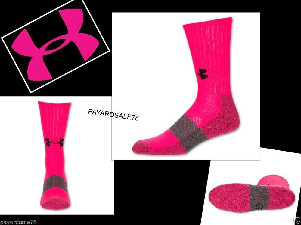 Details about 1 Pair Under Armour Undeniable Mid Crew ...