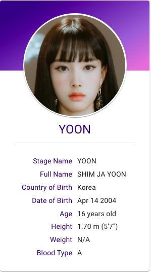 Yoon Stayc Hallyu Idol Profile Kpop Profiles Kpop Groups