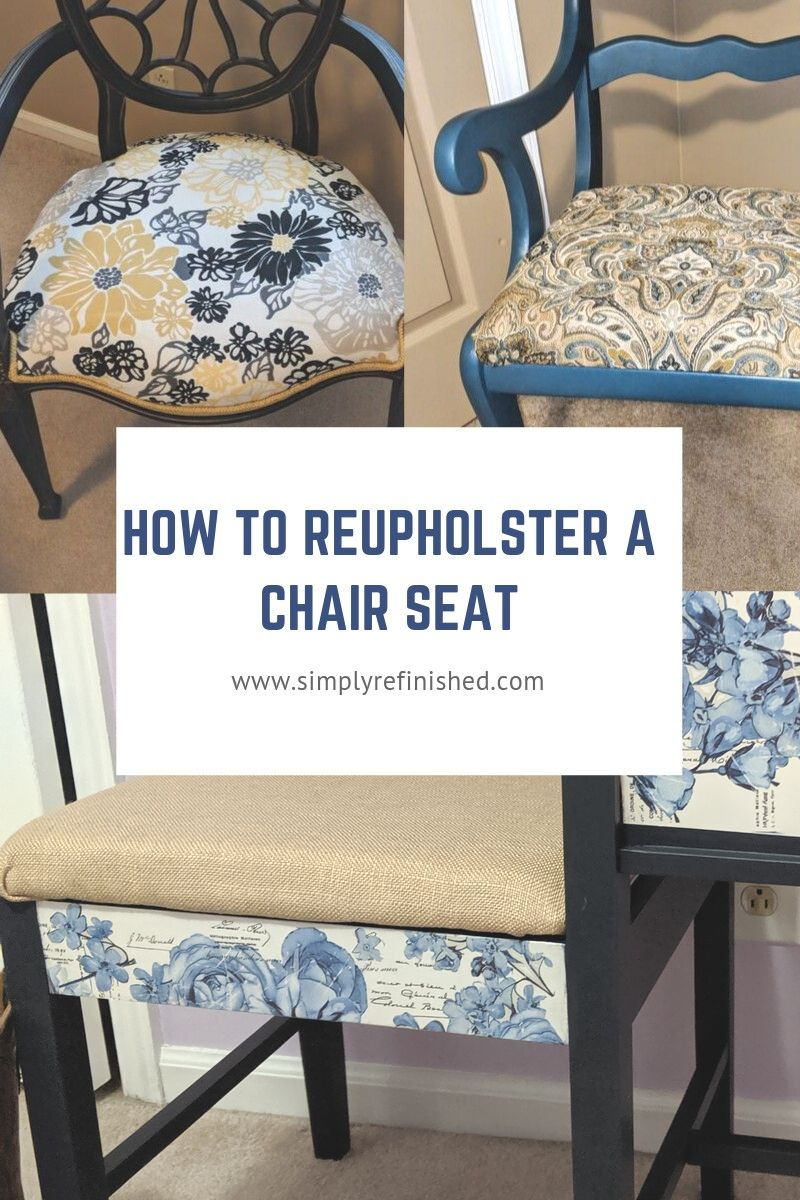 How to reupholster a chair seat simple stepbystep