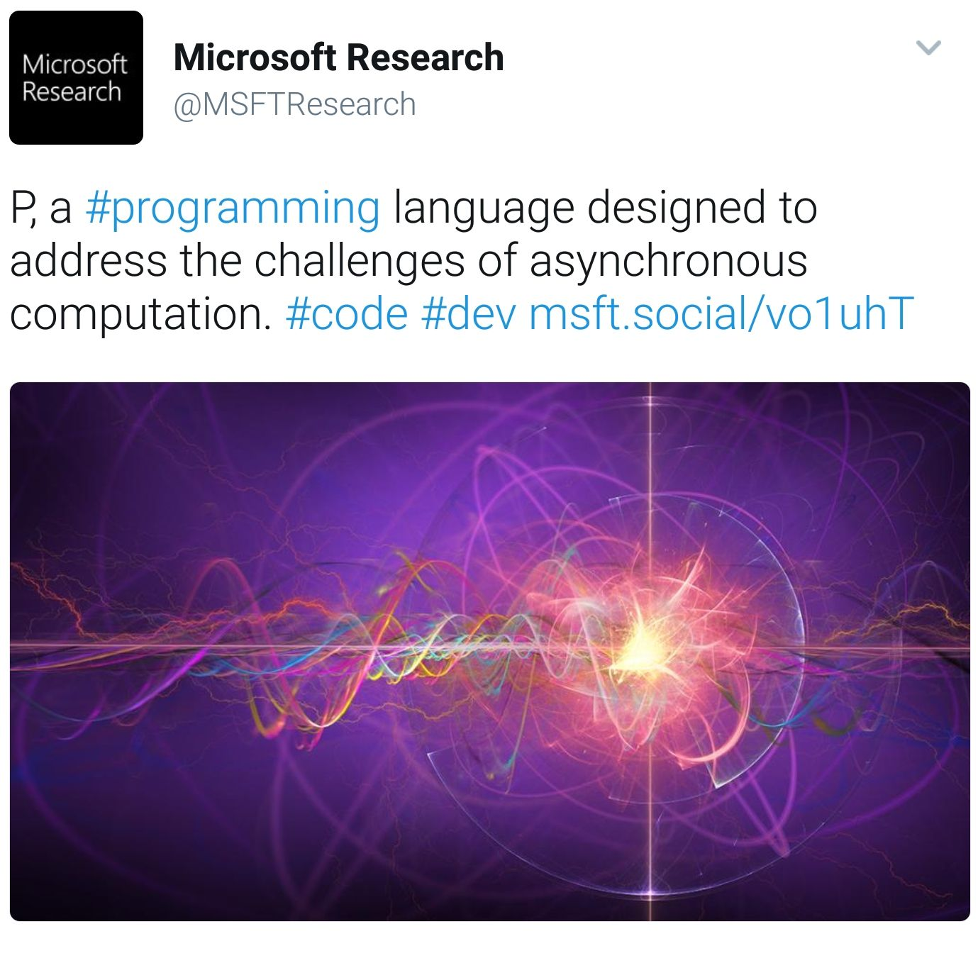 microsoft microsoft research p a programming language designed to address challenges asynchronous comp