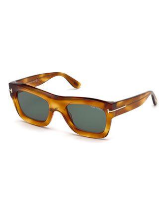 f94537c197e TOM FORD Wagner Thick Square Sunglasses