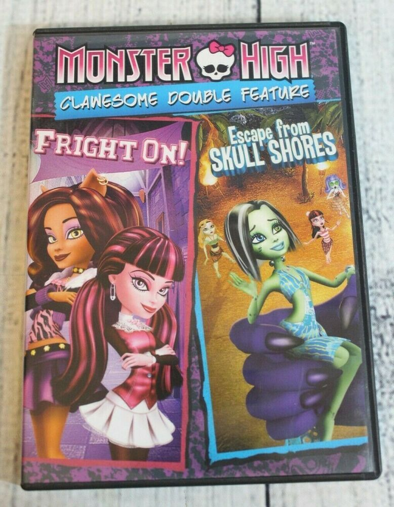 Details about monster high clawsome double feature dvd