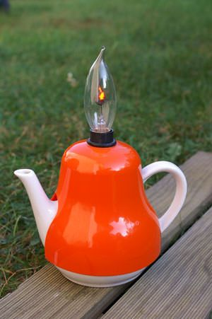 #Candle, #Lamp, #Light, #Teapot, #Upcycled