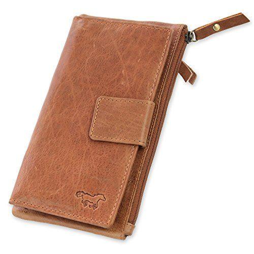 7a6168889a835 Safekeepers Leder Damengeldbörse Portemonnaie mit Handyfach und  Clipverschluss für Iphone 8 große Damen geldbörse mit Vielen