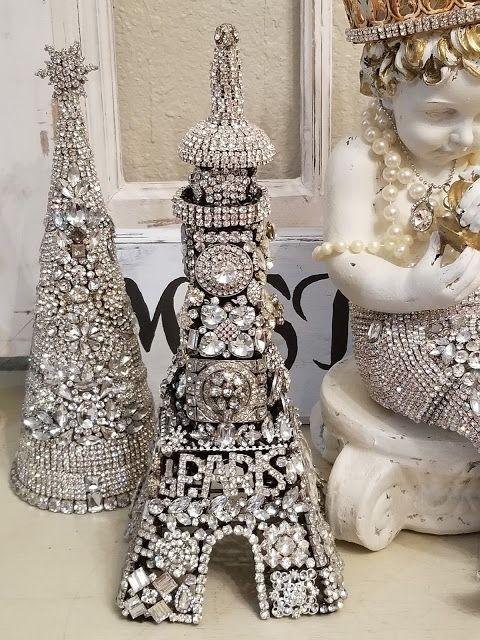 Omg! Rhinestone Treesa Mermaid and a French Eiffel Tower