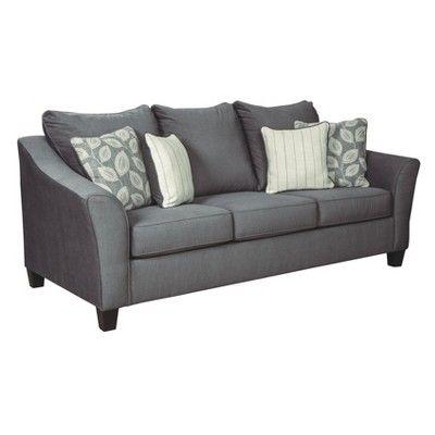 Best Sanzero Sofa Graphite Gray Signature Design By Ashley 640 x 480