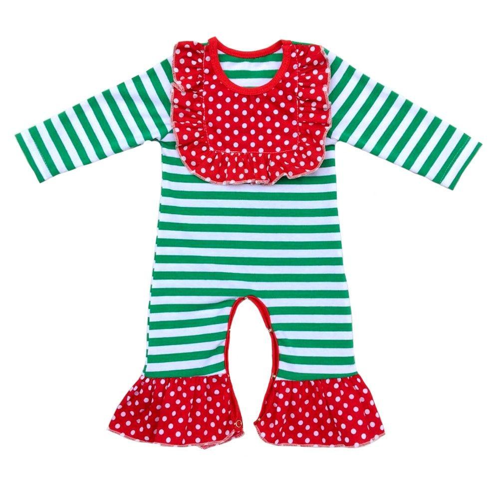 a5de6195c baby girls bull Pajamas icing Ruffled romper Baby girls thanksgiving ...