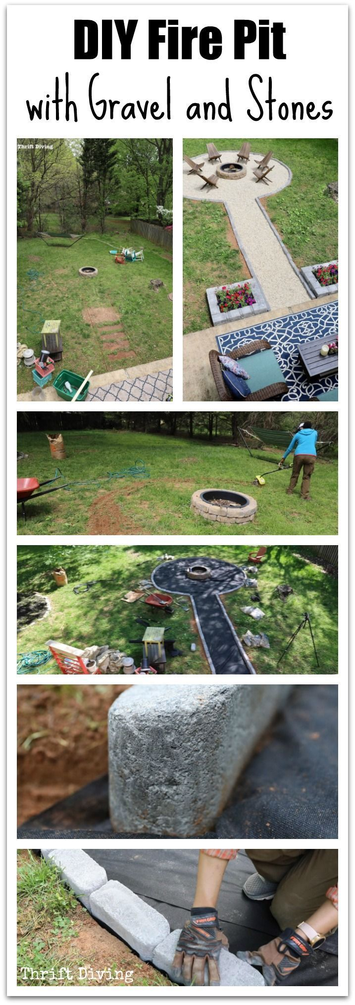 How to Build a DIY Fire Pit With Gravel and Stones
