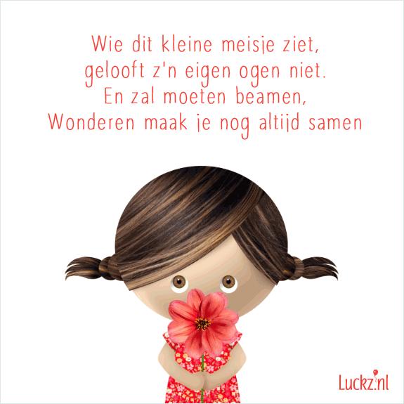 Bedwelming Lief en schattig geboorte gedichtje tekstje wie dit kleine meisje #KD23