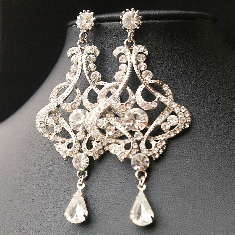 Crystal chandelier bridal earrings vintage bridal jewelry crystal chandelier bridal earrings vintage bridal jewelry chandelier wedding earrings vintage glamour arubaitofo Images
