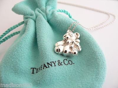 b7bc67387 Overview: Here is a wonderful vintage piece that is rarely seen for sale -  the Tiffany & Co. Sterling Silver Teddy Bear Necklace.
