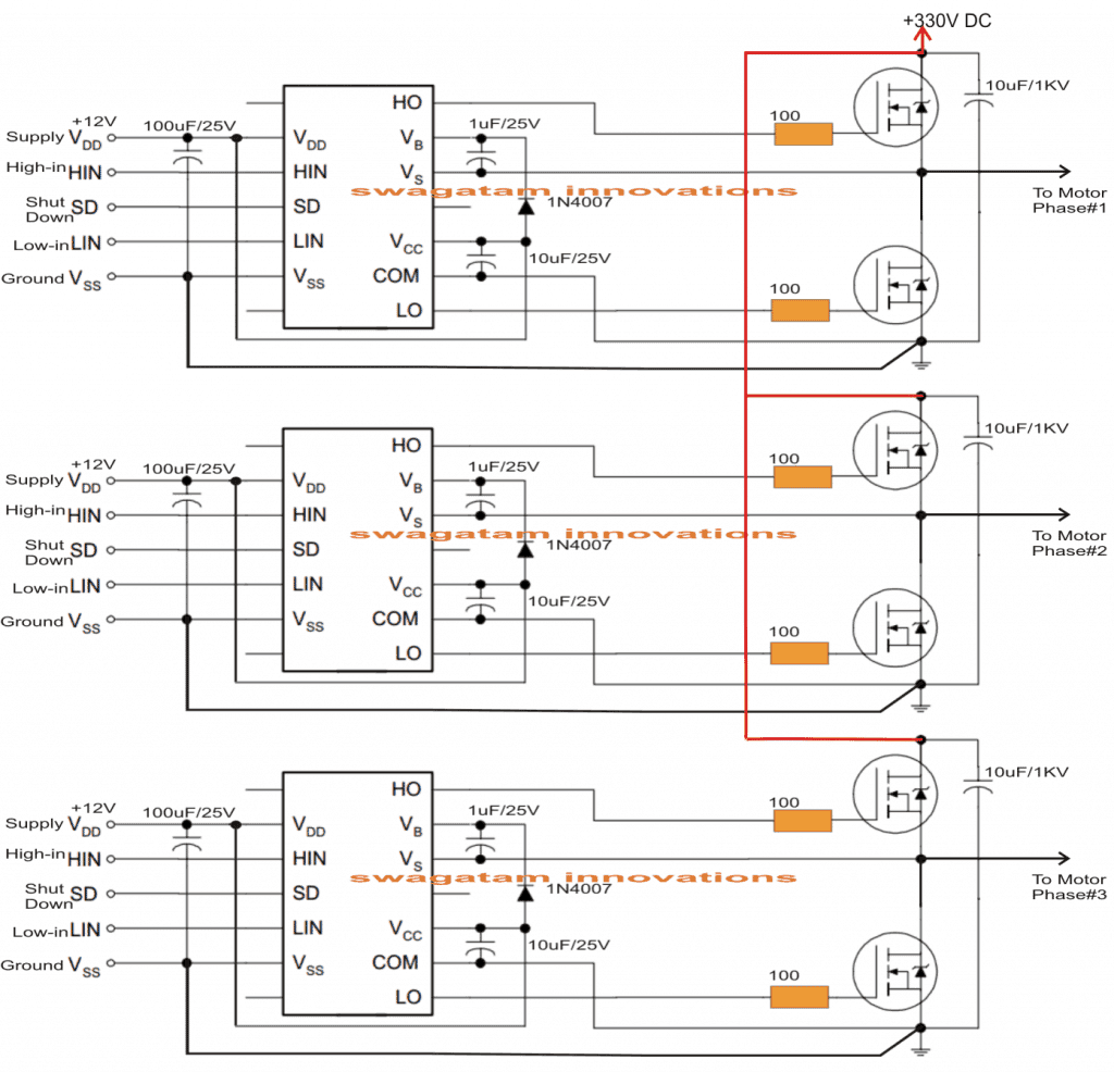 Driving 3 Phase Motor On Single Phase Supply Homemade Circuit Projects In 2020 Circuit Diagram Circuit Projects Circuit