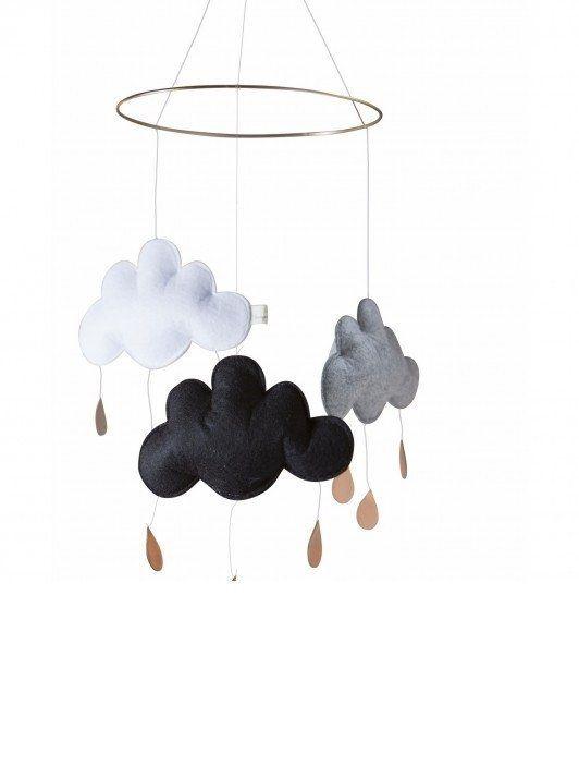 Konges Sløjd Cloud Mobile - Black/Grey Melange/White (Pre Order)