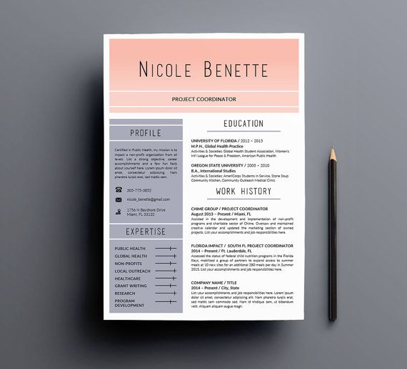 the rise and shine 1 pg resume template 4 templates for ms word