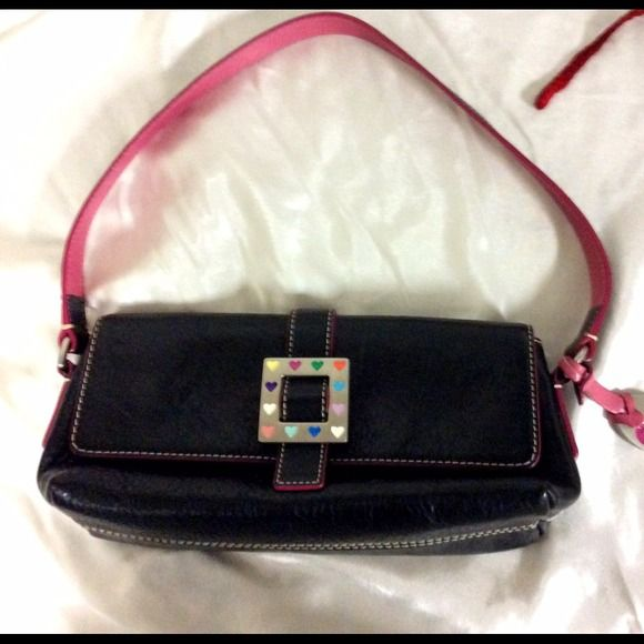 "Selling this ""Dooney & Bourke Square Heart Med East/West Flap"" in my Poshmark closet! My username is: dress2impress1. #shopmycloset #poshmark #fashion #shopping #style #forsale #Dooney & Bourke #Handbags"