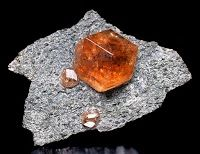 Hessonite Garnet on matrix