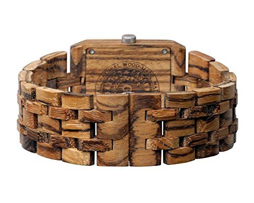 Wooden Watch by Gassen James – Men's style Omega III Zebra Wood  This watch is made from 100% natural premium wood. It has a traditional style with the same size and features you would expect from other watches. However, the natural beauty of wood makes the watch far from ordinary. It will turn heads and attract compliments starting the first day you wear it. And because it is made from natural non-painted wood, it is lighter and more comfortable than most any other watch. You'll be ..