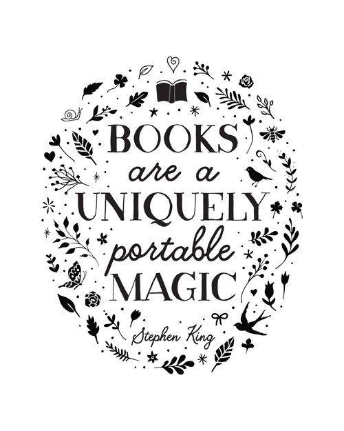 Printable Art, Books are a Uniquely Portable Magic