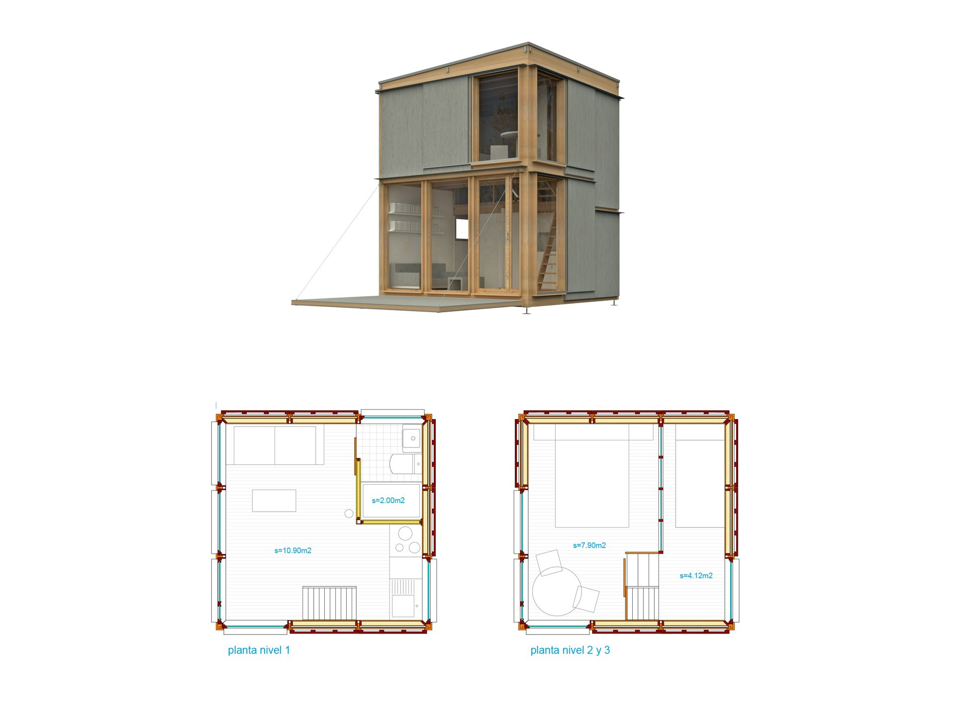 Https Www Ubuild Es Wp Content Uploads 2018 06 3x32a Mas Plantas 1920x1440 Jpg In 2021 Micro House Heating And Air Conditioning Diy Building