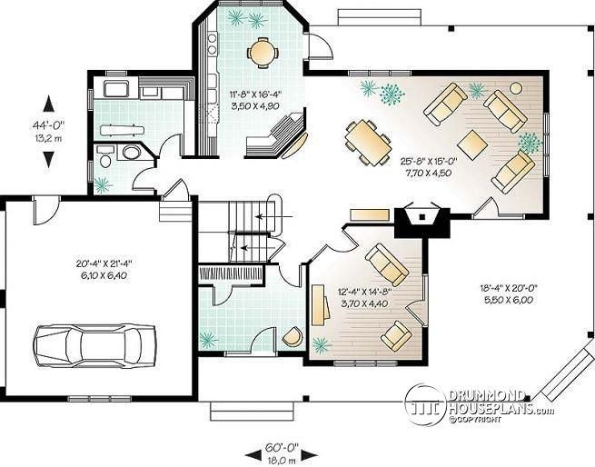 1st level 3 to 5 bedroom waterfront cottage house plan ...