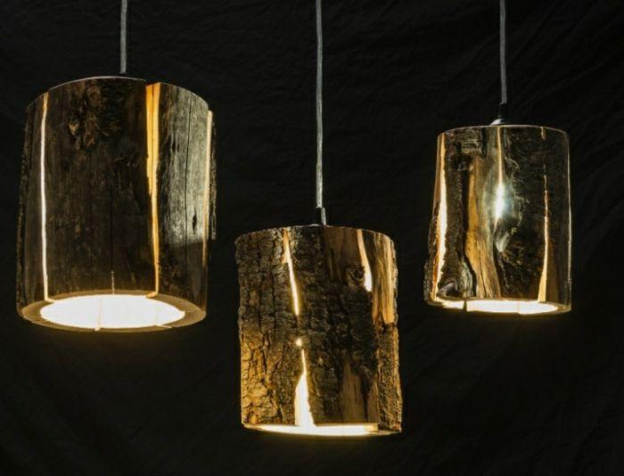 Ausgefallene Pendelleuchten baumstamm möbel ausgefallene designer leuchten duncan meerding