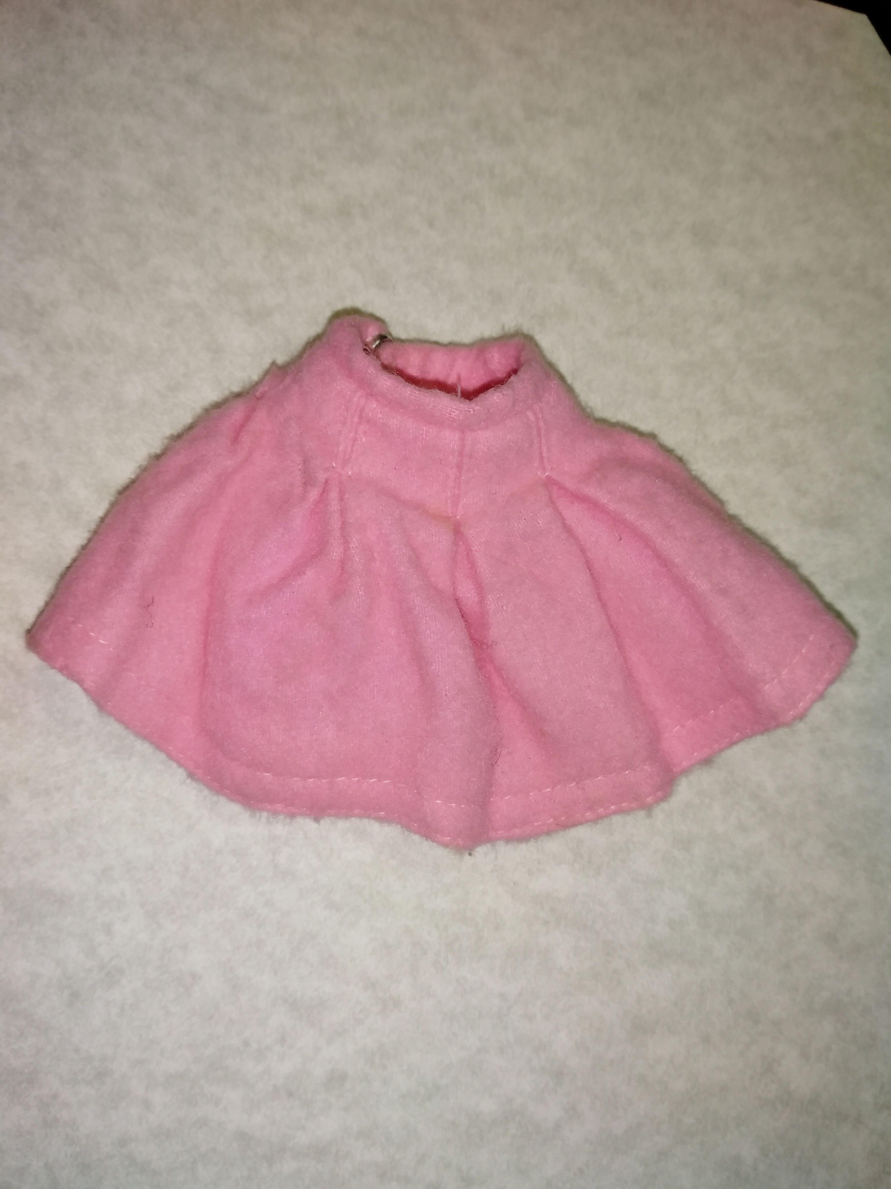 Vintage Barbie Skipper SCHOOL DAYS Pink Flannel Skirt   Barbie ...