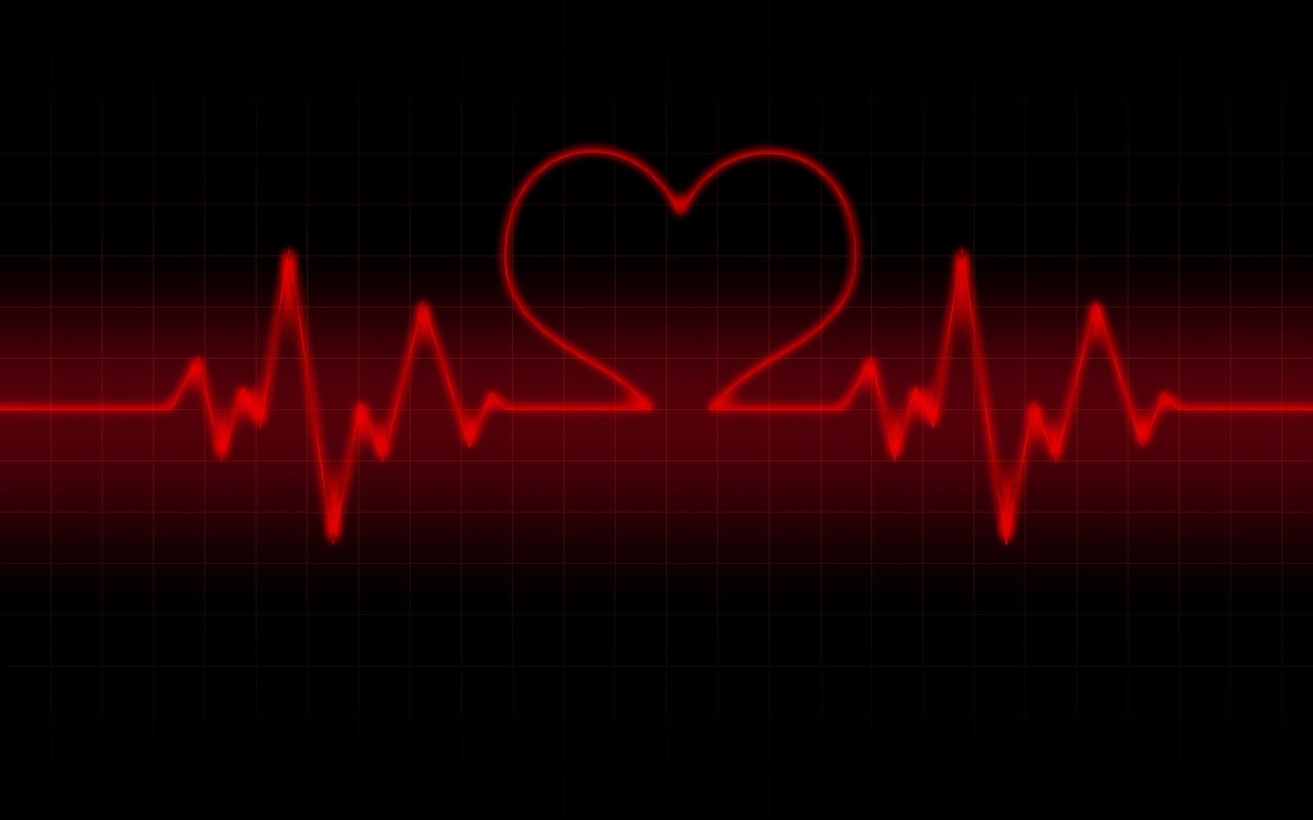 Black Red Love Wallpaper : life line heart rate Wallpaper Valentine Day Red And Black Wallpapers Valentine s Day ...