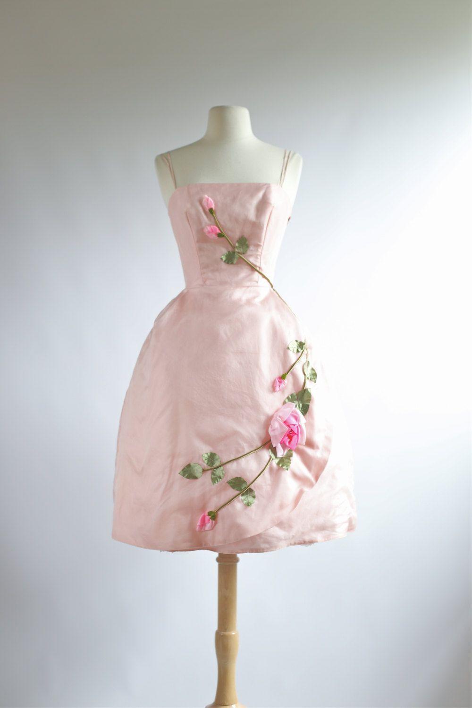 Vintage pink prom dress vintage s s prom dress s dress