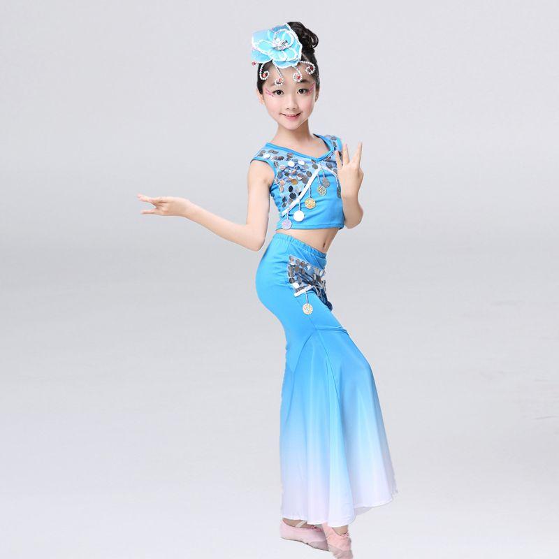 >> Click to Buy << Girl Dai Dance Costume Peacock Dance Costume Girls Children Hulus Dai Dance Dress Skirt #Affiliate
