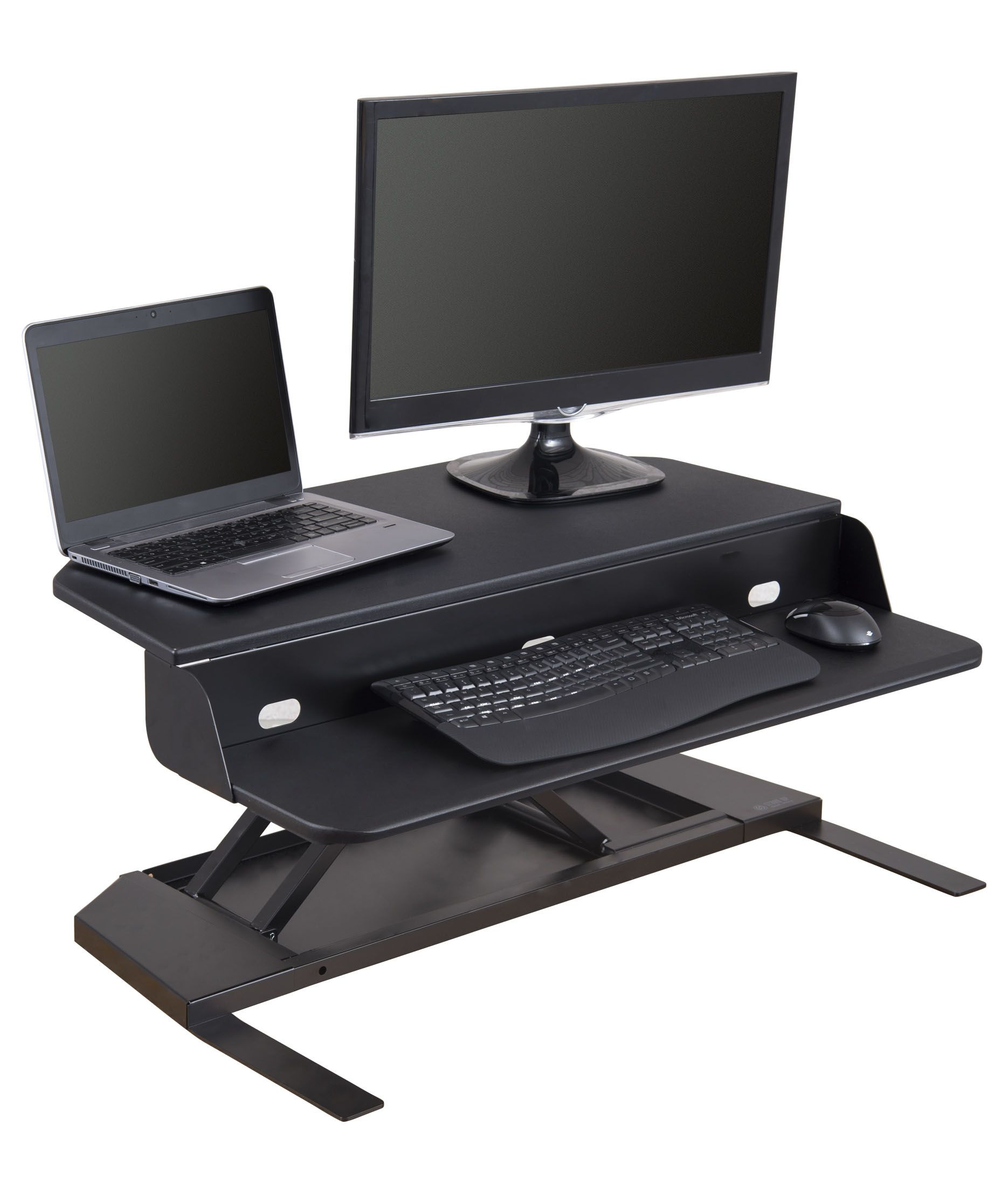 Awesome Airrise Corner Pro Adjustable Standing Desk Converter Download Free Architecture Designs Grimeyleaguecom