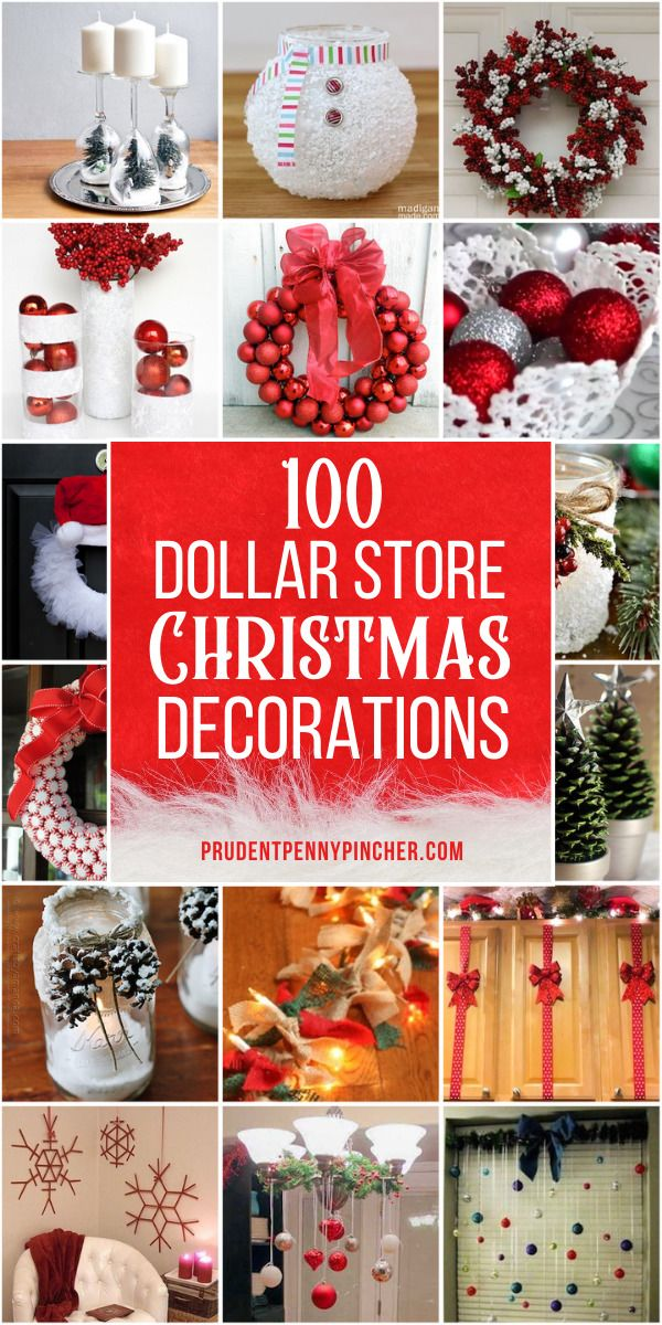 100 DIY Dollar Store Christmas Decor Ideas -   19 christmas decorations diy crafts ideas
