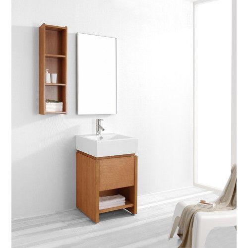 20 Inch Gulia Vanity Space Saving Cabinet 20 Inch Wide Vanity Solid Oak And Ven Contemporary Bathroom Vanity Single Sink Bathroom Vanity Single Sink Vanity