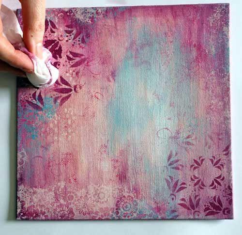 Monday Mojo Painted Canvas Art Journal Techniques Art Journal Art Journal Backgrounds