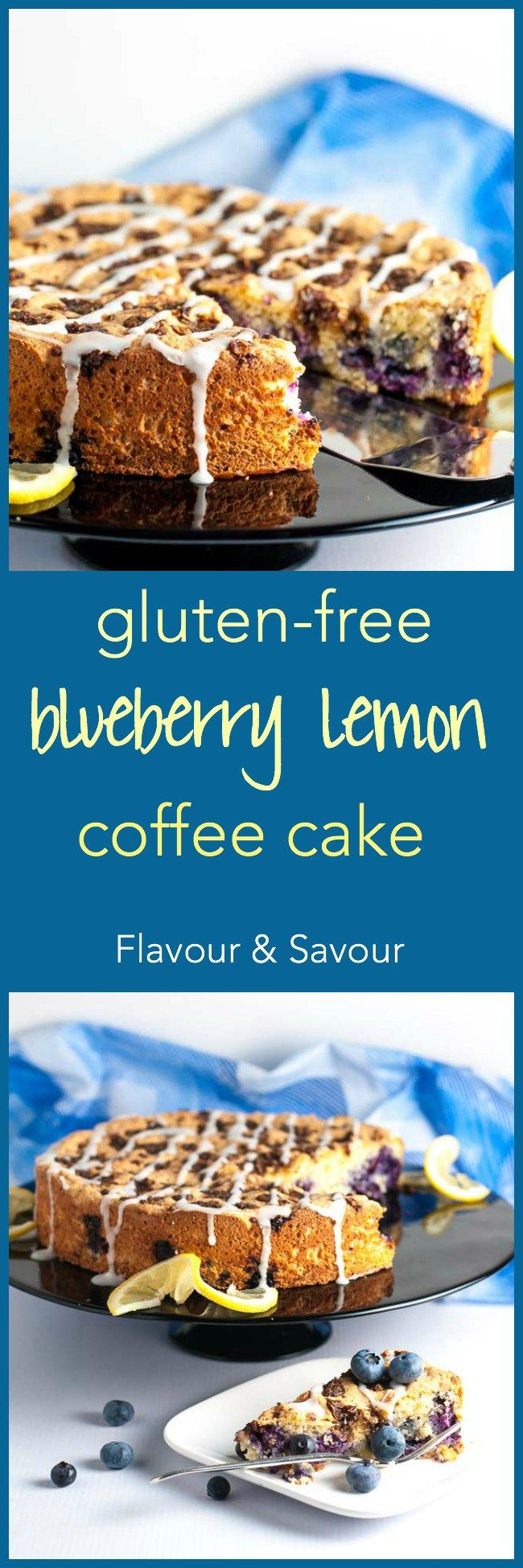 Gluten-Free Blueberry Lemon Coffee Cake   Recipe (With images)   Blueberry lemon coffee cake ...