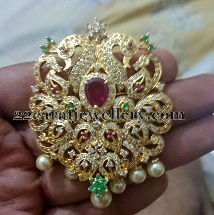 Multi Stone 1 Gram Gold Locket | Gold locket, Stone and Gold