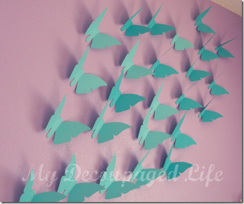 Use cardstock cutouts to decorate your kid 39 s room mom for How to make paper butterflies for wall