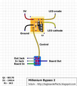 true bypass mod for boss pedal guitar electronics. Black Bedroom Furniture Sets. Home Design Ideas