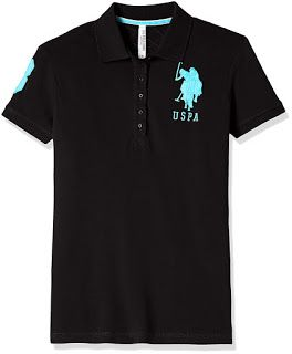 d583978e T Shirt Online: Buy US Polo Women's Band Collar T Shirts From Ama ...