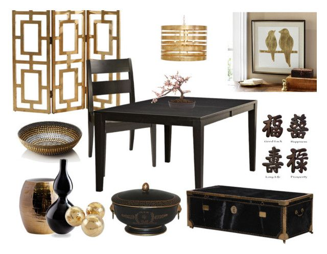 Asian Influence by countryside-amish-furniture on Polyvore featuring interior, interiors, interior design, home, home decor, interior decorating
