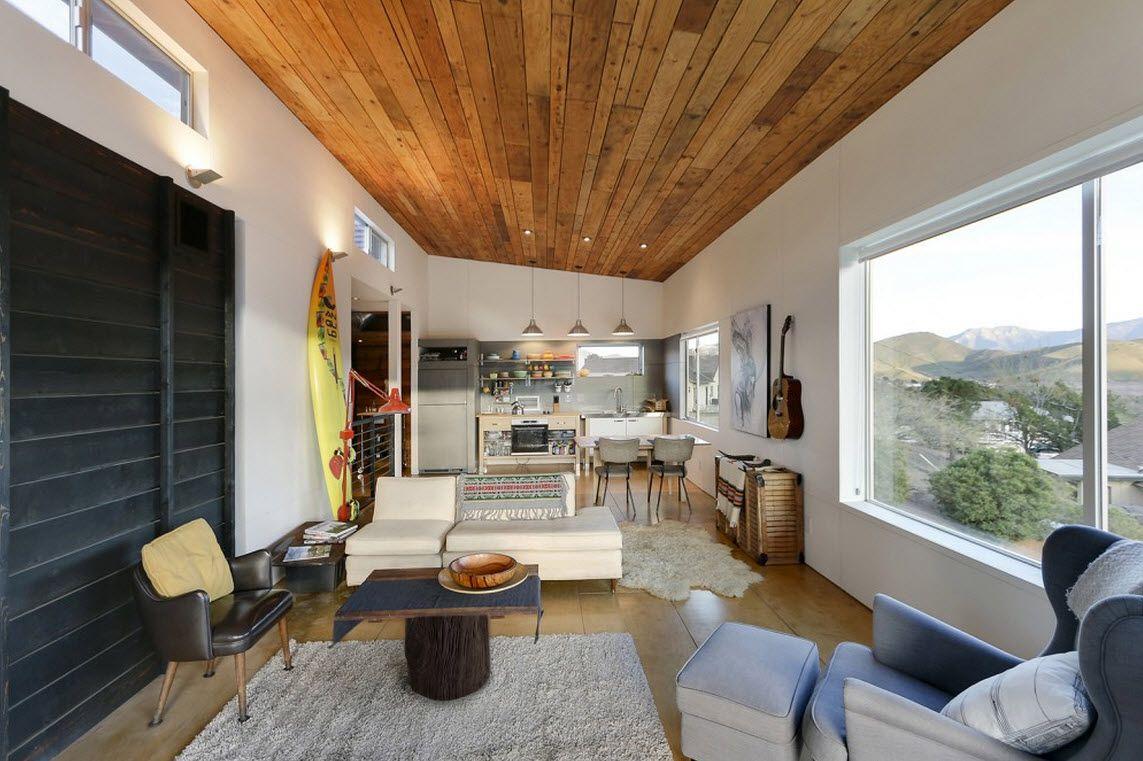 Diseño de cabaña moderna de dos pisos, pequeña construcción se ...
