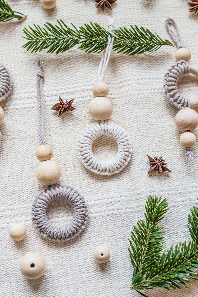 DIY Deko: Vier Ideen für Makramee Weihnachtsdeko