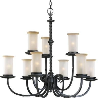 Thomasville Lighting Santiago Collection 9-Light Forged Black Chandelier-P4179-80 at The  sc 1 st  Pinterest & Thomasville Lighting Santiago Collection 9-Light Forged Black ... azcodes.com