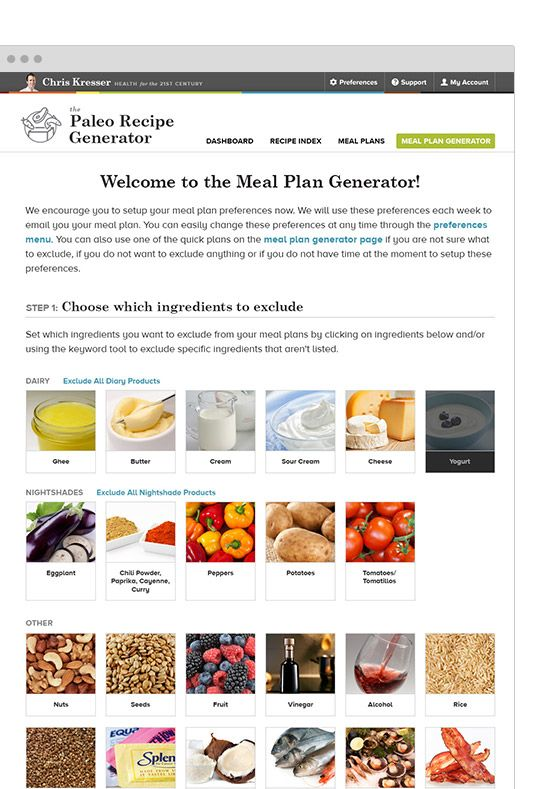 Paleo recipe generator personalize your recipes to exclude paleo recipe generator personalize your recipes to exclude ingredients for whole 30 paleo forumfinder Gallery