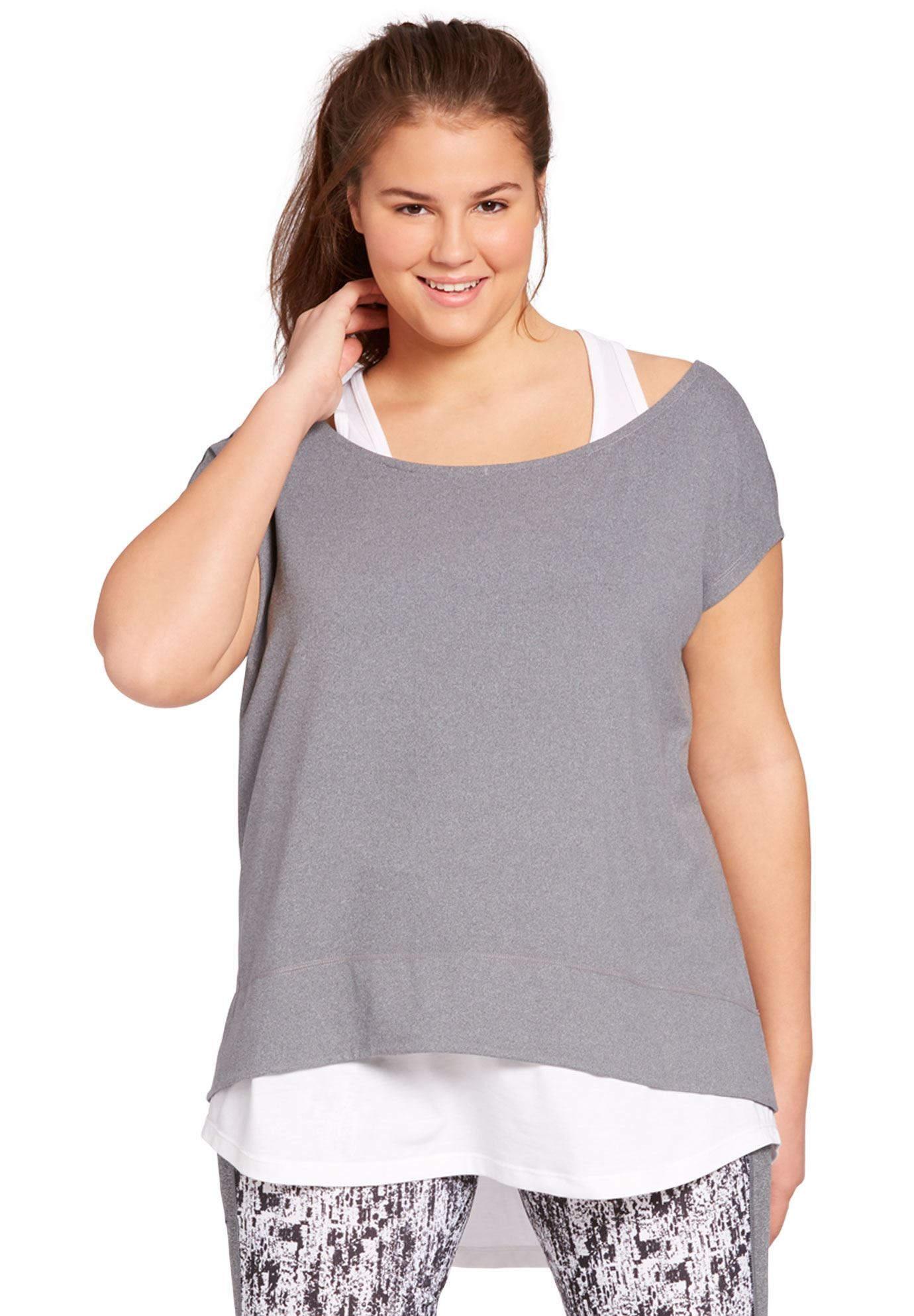 64f617c5d2c Layered look tunic by fullbeauty SPORT® - Women's Plus Size Clothing