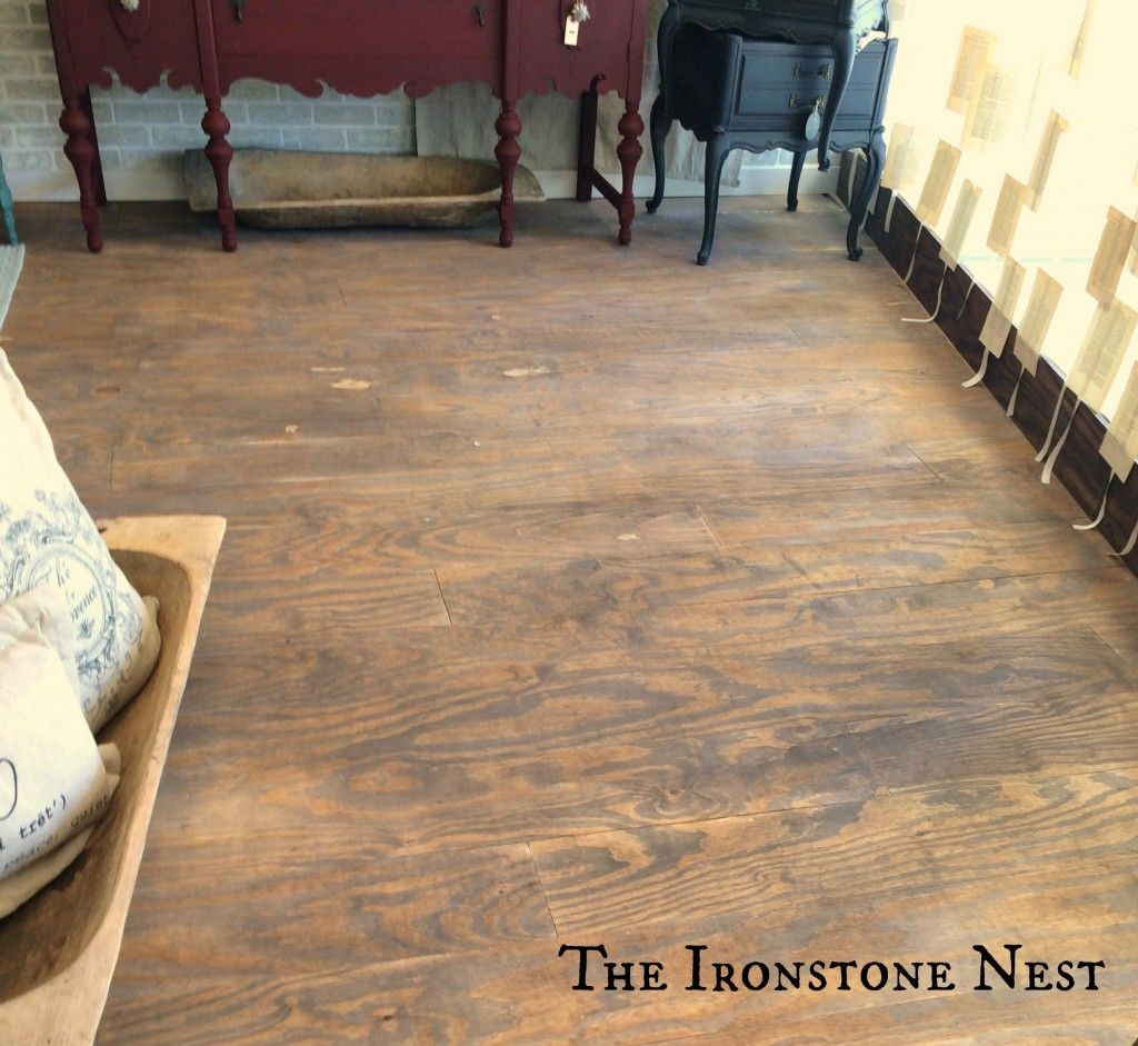 Floors Made Of Plywood And Then Painted With Curio Milk Paint From The Ironstone Nest