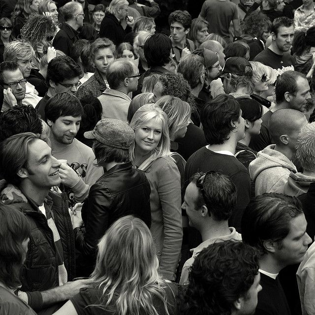 A face in the crowd by -hndrk-, via Flickr