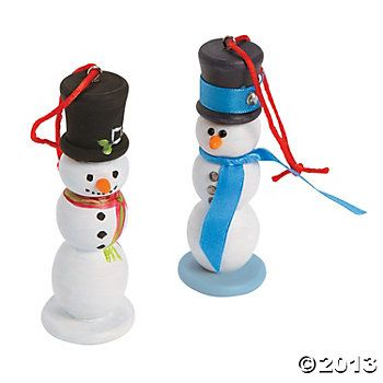 DIY Snowman Ornaments
